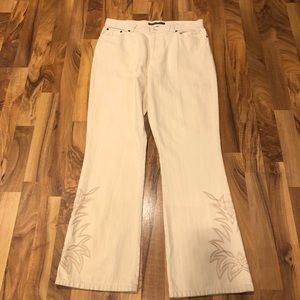 🔥Ralph Lauren Ivory jeans with accent size 12